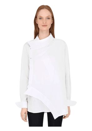 Asymmetric Cotton Poplin Shirt