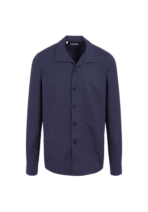 G. Inglese Navy Cotton Rustic Over-Shirt