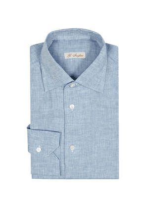 G. Inglese Light Blue Linen Capri Shirt