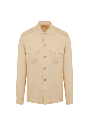 G. Inglese Natural Cotton and Linen Over-Shirt
