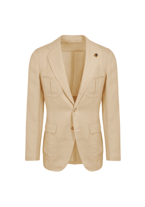 G. Inglese Natural Cotton and Linen Safari Jacket