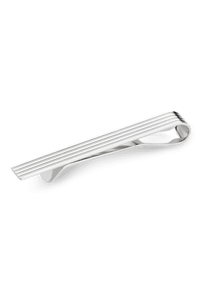 Sterling Silver Engine Turned Tie Slide