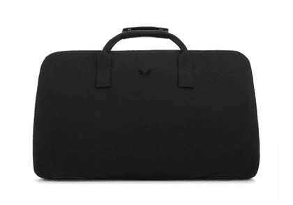Black Canvas and Leather S.C Holdall