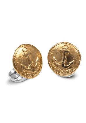 Sterling Silver 230 Coin Cufflinks Anchor