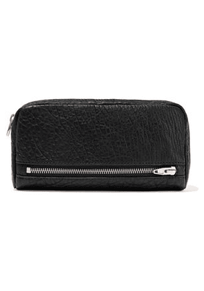 Alexander Wang Woman Fumo Pebbled-leather Continental Wallet Black Size -
