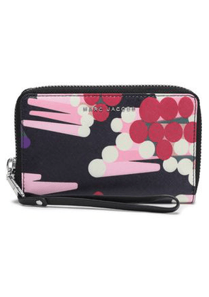 Marc Jacobs Woman Printed Textured-leather Wallet Dark Purple Size -