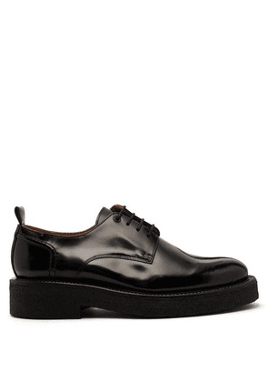 Ami - Exaggerated Sole Leather Derby Shoes - Mens - Black
