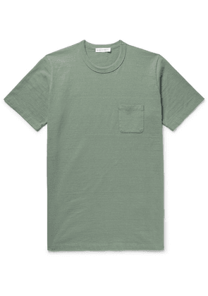 Fabric-Brand & Co - Slub Cotton-jersey T-shirt - Light green