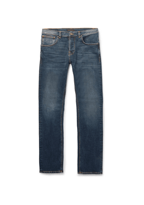 Nudie Jeans - Grim Tim Slim-fit Organic Stretch-denim Jeans - Blue
