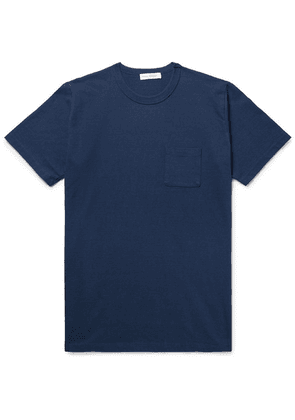 Fabric-Brand & Co - Slub Cotton-jersey T-shirt - Midnight blue