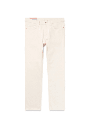 Acne Studios - River Cropped Tapered Slim-fit Denim Jeans - Cream