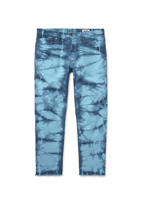 Todd Snyder - Slim-fit Cropped Tie-dyed Stretch-denim Jeans - Blue