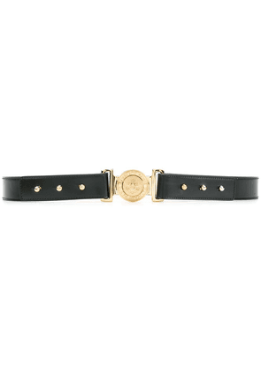 Balmain adjustable logo crest belt - Black