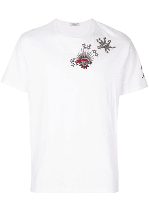 Valentino tattoo embroidered T-shirt - White
