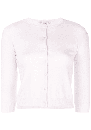 Autumn Cashmere button fitted cardigan - Pink
