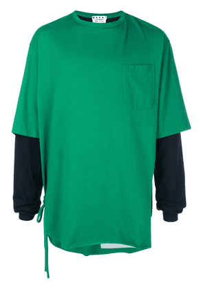 Marni layered T-shirt - Green