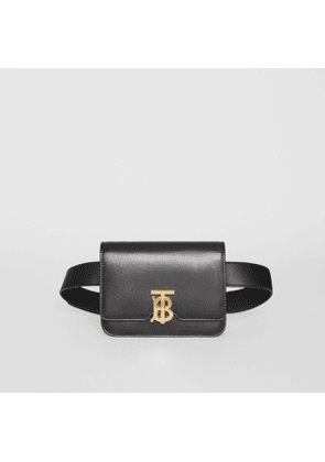 Burberry Belted Leather TB Bag, Black