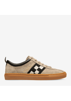 Bally Vita-Parcours Grey, Men's calf suede low-top trainers in wheat