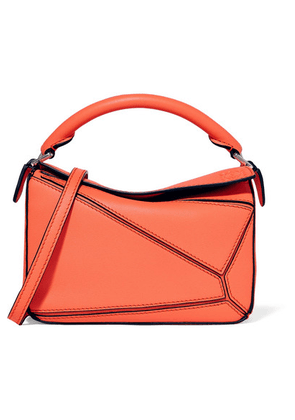 Loewe - Puzzle Mini Textured-leather Shoulder Bag - Peach