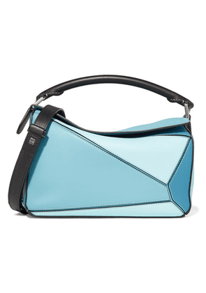 Loewe - Puzzle Small Color-block Textured-leather Shoulder Bag - Sky blue