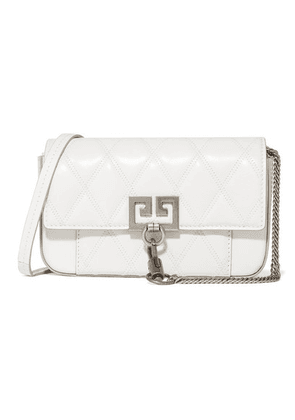 Givenchy - Pocket Mini Quilted Leather Shoulder Bag - White