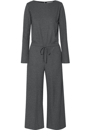 calé - Louise Ribbed Stretch-jersey Jumpsuit - Charcoal