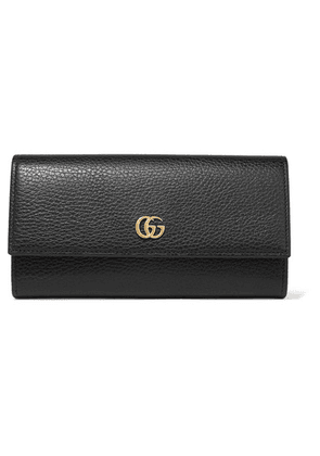 Gucci - Textured-leather Continental Wallet - Black