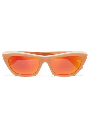 Acne Studios - Azalt Embellished Cat-eye Acetate Mirrored Sunglasses - Orange