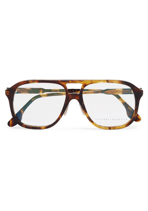 Victoria Beckham - Aviator-style Tortoiseshell Acetate Optical Glasses - one size