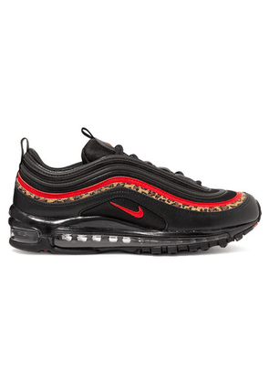 Nike - Air Max 97 Leather And Mesh Sneakers - Black