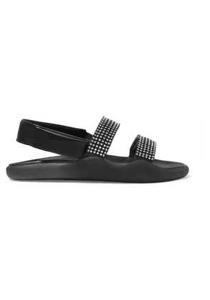 Christopher Kane - Crystal-embellished Leather Sandals - Black