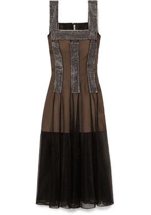 Christopher Kane - Crystal-embellished Tulle Dress - Black