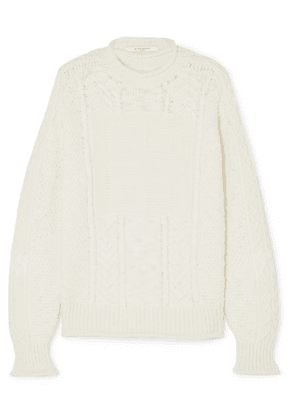 Givenchy - Cable-knit Wool And Cashmere-blend Sweater - White