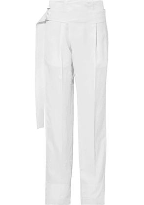 Victoria Beckham - Pleated Cady Wide-leg Pants - White
