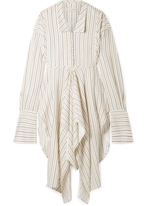 JW Anderson - Draped Striped Woven Tunic - Ivory