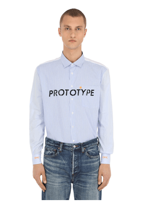Logo Printed Cotton Shirt