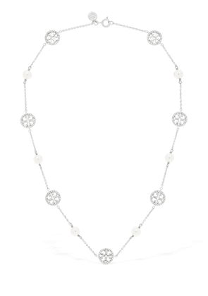 Crystal & Faux Pearl Necklace