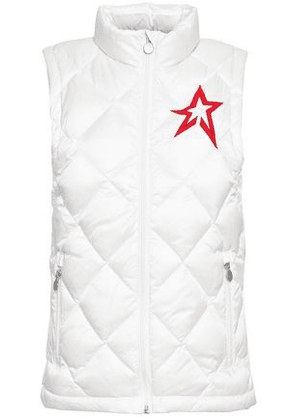 Perfect Moment Woman Quilted Shell Down Vest White Size L