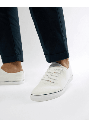 Brave Soul Lace Up Plimsolls In White