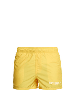 Givenchy - Logo Print Swim Shorts - Mens - Yellow
