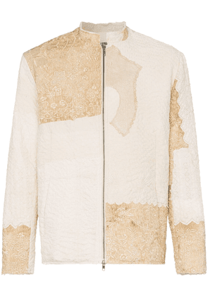 By Walid embroidered patchwork Victorian jacket - Neutrals