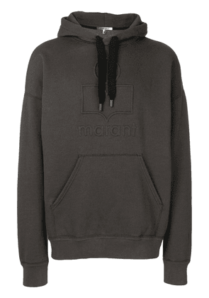 Isabel Marant Miley embroidered logo hoodie - Black