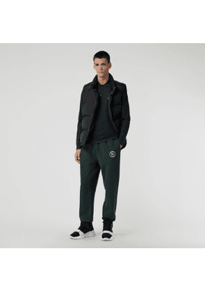 Burberry Embroidered Logo Jersey Trackpants, Size: XL, Green