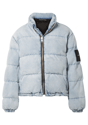 Alexander Wang - Appliquéd Quilted Denim Jacket - Light blue
