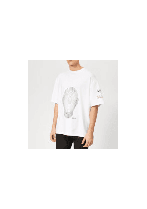 Lanvin Men's Big Face T-Shirt - White - M - White