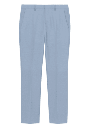 Burberry Classic Fit Wool Tailored Trousers - Blue