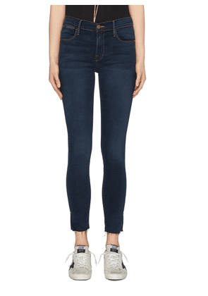'Le High Skinny' raw split cuff jeans