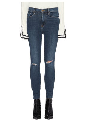 'Ali' ripped raw cuff cigarette jeans