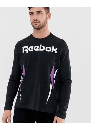 44cf2a1fa074 Reebok Vector Logo Long Sleeve T-Shirt Black