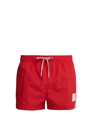 Thom Browne - Tricolour Stripe Swimshorts - Mens - Red